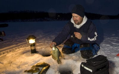 Wintertime Night Crappies