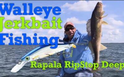 Walleye Jerkbait Fishing: Rapala RipStop Deep